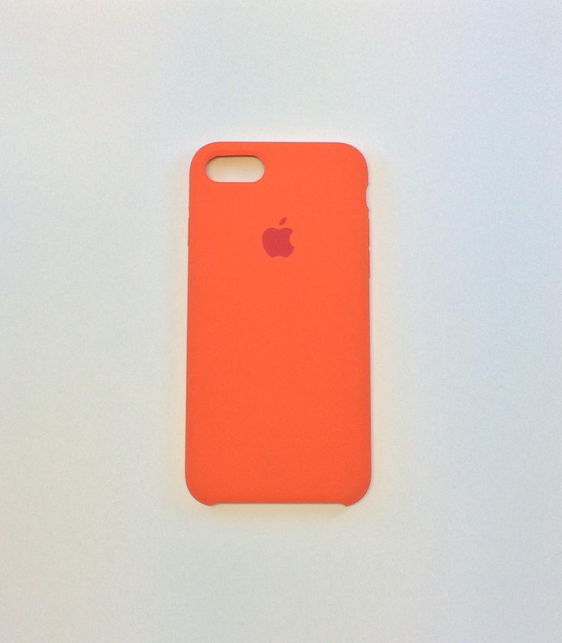 Силиконовый чехол для iPhone 8, цвет «оранжевое настроение» - copy original