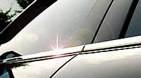 Хромированныемолдинги на стекла для MitsubishiPajero Wagon 4, Митсубиси Паджеро Вагон 4