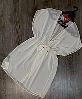 Светлая шифоновая туника, пляжная одежда.