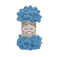 Пряжа  Alize Puffy голубой