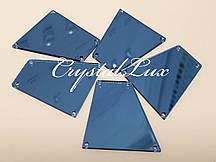 Зеркальные пришивные стразы B1 28*30 Aquamarine