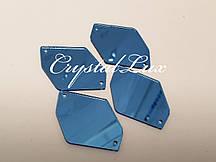 Зеркальные пришивные стразы A6 25*35 Aquamarine