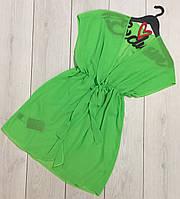 Яркая шифоновая туника-короткая, пляжная одежда.