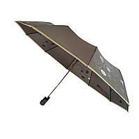 """Женский зонт полуавтомат на 10 спиц Max, модель """"Lilu"""", с изображением цветов, 114-1"""