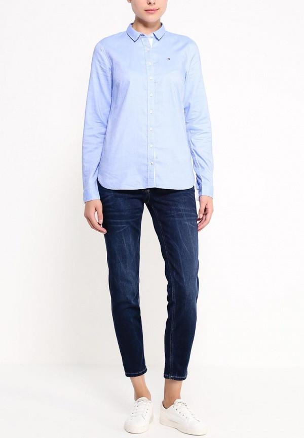 Женская рубашка Tommy Hilfiger классическая голубая XXL