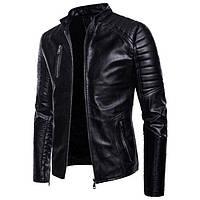 Косуха молодежная с натуральной кожи,куртка мотобайкерская.