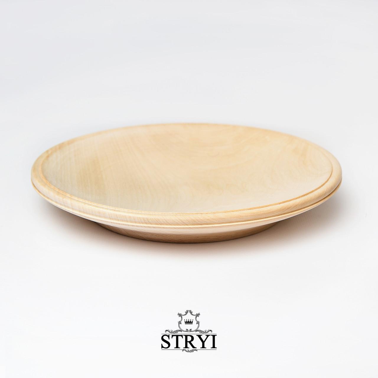 Тарелка для резьбы, заготовка, липа 240 мм