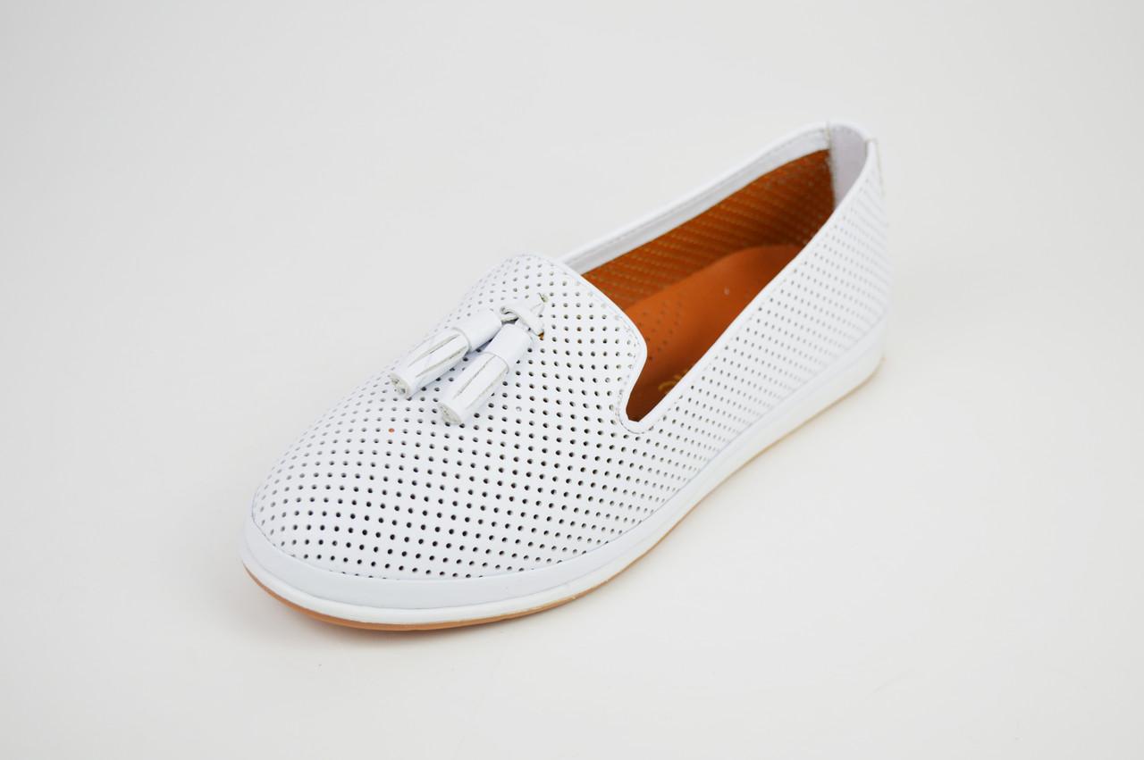 3a3343f63 Балетки белые перфорированные Estyle 11081 - КРЕЩАТИК - интернет магазин  обуви в Александрии