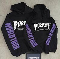 Худи Purpose world tour logo   Толстовка топ