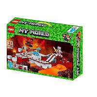 "Конструктор ZM613 (Аналог Lego Minecraft 21130). ""Підземна залізниця"" 391 елемент, 42.5*28*8см"