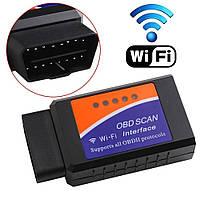 Авто сканер Wi Fi, вай фай адаптер OBD2 ELM327 Wi Fi для диагностики авто