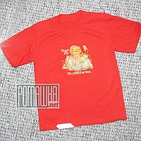 Детская футболка для мальчика р. 92-98 ткань КУЛИР-ПИНЬЕ 100% тонкий хлопок ТМ Ромашка 4662 Красный