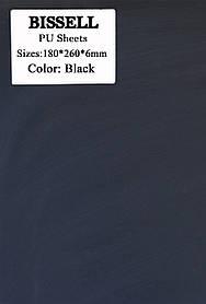 Полиуретан листовой набоечный BISSELL гладкий размер 180*260*6мм Черный