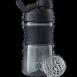 Спортивная бутылка-шейкер BlenderBottle SportMixer Twist 590ml. Оригинал. Цвета: White/Black/Navy/Teal/Plum  , фото 2