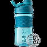 Спортивная бутылка-шейкер BlenderBottle SportMixer Twist 590ml. Оригинал. Цвета: White/Black/Navy/Teal/Plum  , фото 8