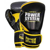 Перчатки для бокса PowerSystem PS 5005 Challenger Black/Yellow Вес: 10 oz, 12 oz, 14 oz, 16 oz