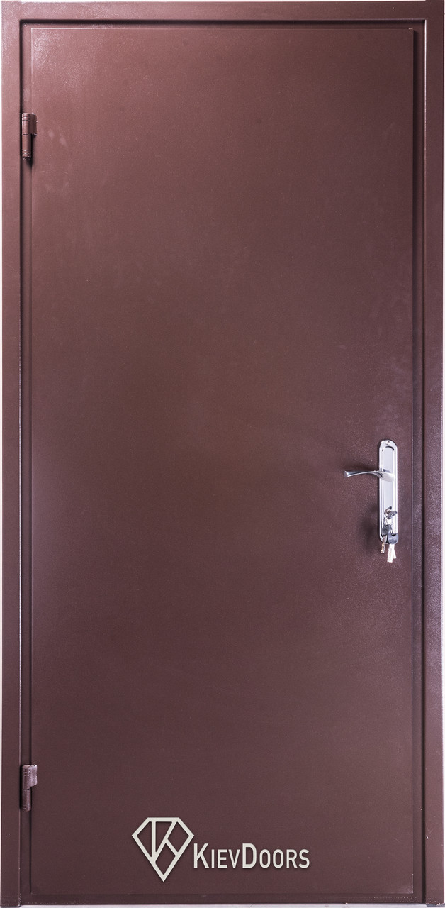 Двери Металл/ДСП+притвор, РАЛ 8017 снаружи, внутри ДСП 16 мм, толщина короба 80 мм, полотно 50