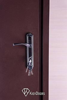 Двери Металл/ДСП+притвор, РАЛ 8017 снаружи, внутри ДСП 16 мм, толщина короба 80 мм, полотно 50, фото 2