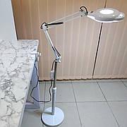 Лампа-лупа 2в1, струбцина и напольная подставка