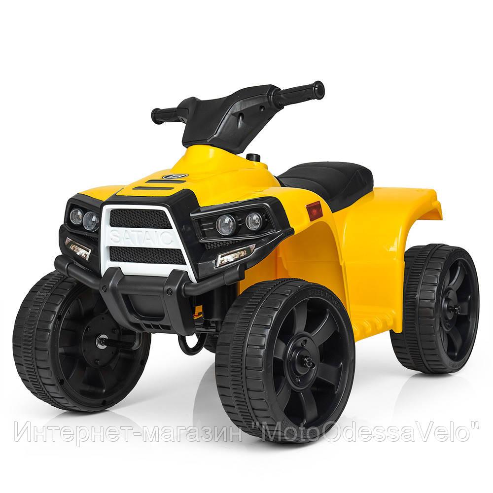Электро квадроцикл Bambi жолтый