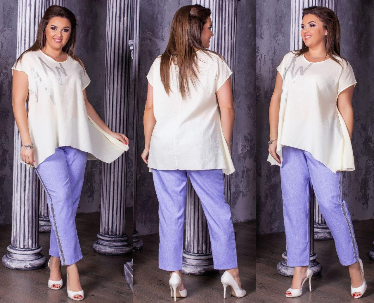 Женская модная блузка  НИ0187 (бат)