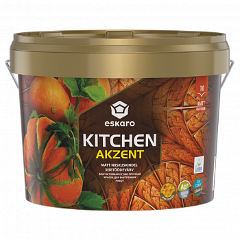 Влагостойкая особо прочная краска для стен кухни ESKARO Akzent Kitchen, 0,9л