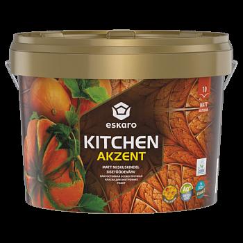 Влагостойкая особо прочная краска для стен кухни ESKARO Akzent Kitchen, 0,9л, фото 2