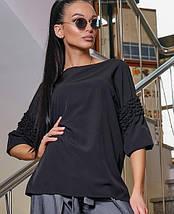 Женская свободная блузка с рюшами на рукавах (3344-3347-3345 svt), фото 3