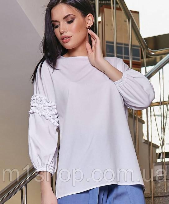 Женская свободная блузка с рюшами на рукавах (3344-3347-3345 svt)