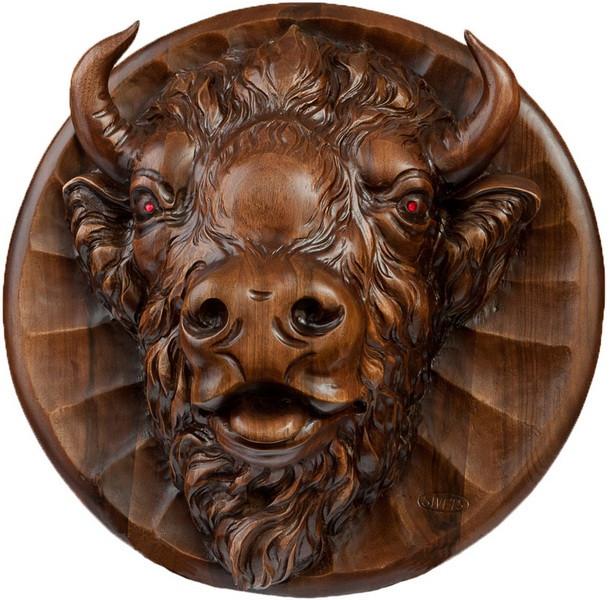 Декоративная тарелка  Зубр