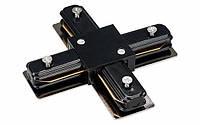 Соединитель для треков LED светильников PHS(+) крестовой однофазный 16A черный Код. 59528