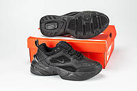 Черные мужские кроссовки в стиле Nike Tekno, мужские чёрные кроссовки найк текно, Мужская обувь.
