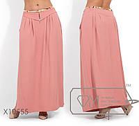 Женская длинная юбка в пол большого размера 50, 52, 54, 56