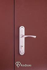 Двери Металл/ДСП+притвор 1200 мм, РАЛ 8017 снаружи, внутри ДСП 16 мм, толщина короба 80 мм, полотно 50, фото 3