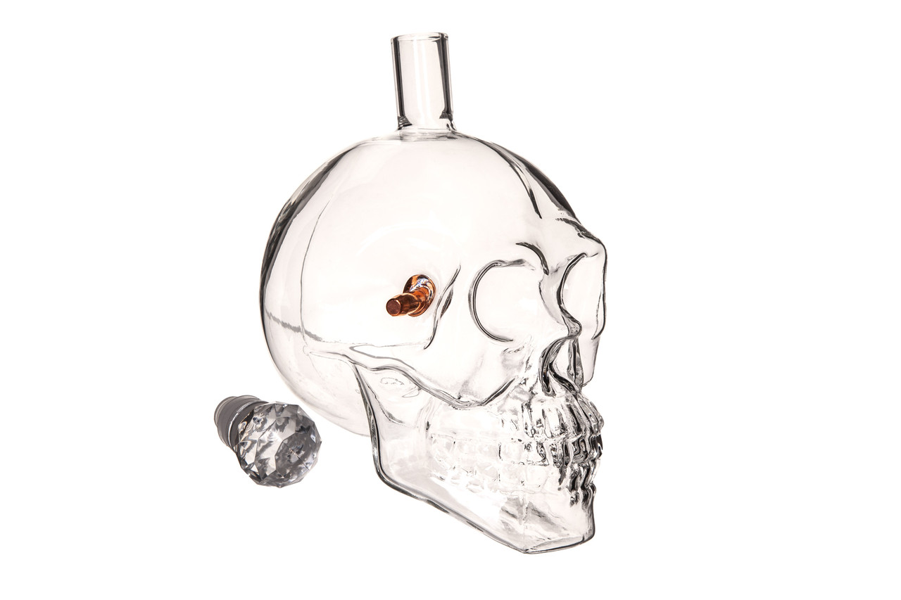 Графин череп с пулей 0.55 л