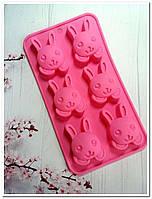 Пасхальный кролик форма для выпечки и десертов  силикон