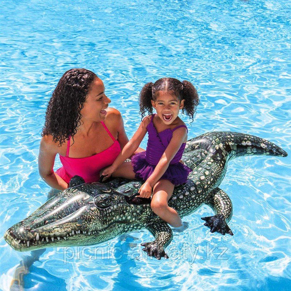 Детский надувной плот Intex 57551 Алигатор 170 х 86 см