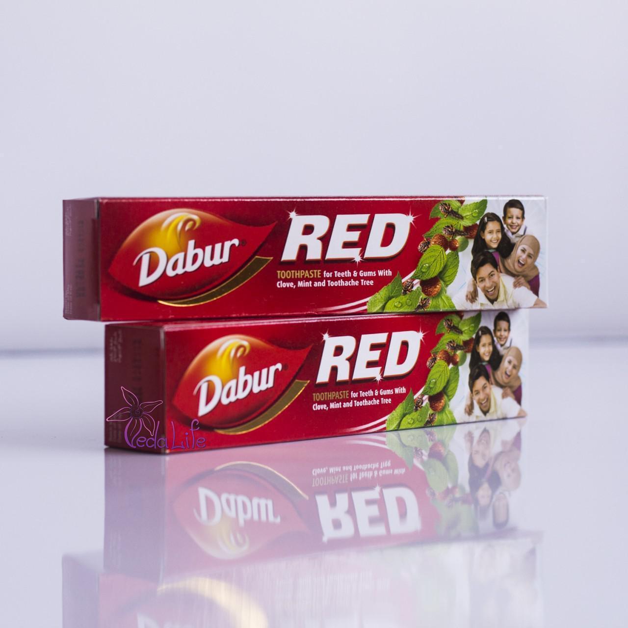 Зубная паста Красная, Red, 100 грамм - антибактериальная, противовоспалительная, при парадонтозе, фото 1