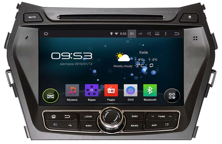 Штатное мультимедийное устройство для Hyundai SantaFe ix45 с 2013 г.в. AHR-2483 Android версии 4.4.4