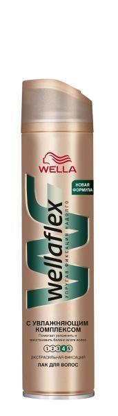 Лак для волос WELLAFLEX с увлажняющим комплексом, экстрасильной фиксации 250 мл
