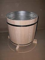 Кадка для цветов дубовая 25 л. с вставкой