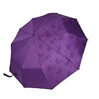 """Жіночий парасольку-напівавтомат на 10 спиць Bellisimo """"Flower land"""", проявлення, фіолетовий колір, 461-2, фото 1"""