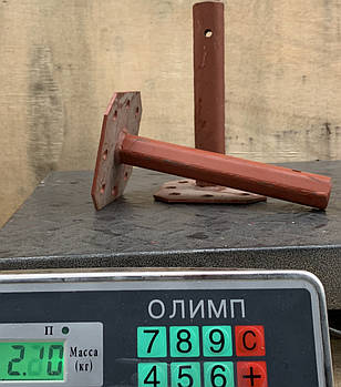 Полуось 23(24)/220мм (фланец жигуль/мотоблок) сварная