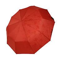 """Жіночий парасольку-напівавтомат на 10 спиць Bellisimo """"Flower land"""", проявлення, червоний колір, 461-6"""