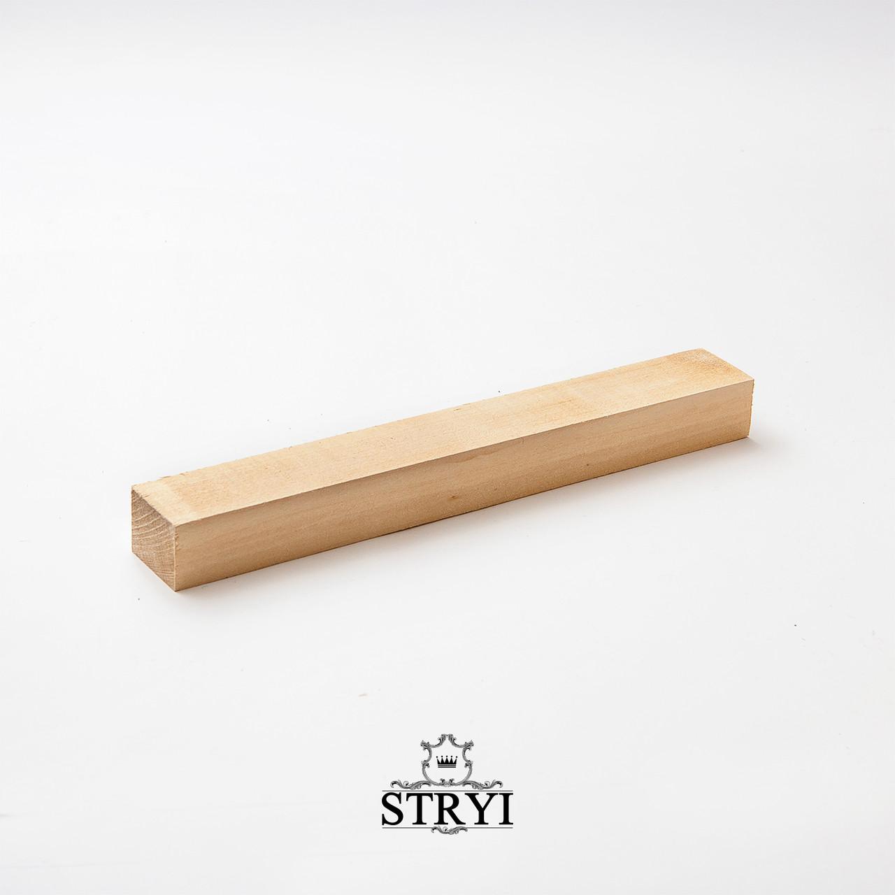Заготовка бруса из липы 300*30*40, STRYI, для резьбы фигурок, статуэток и других изделий