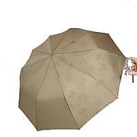 "Женский зонт-полуавтомат на 10 спиц Bellisimo ""Flower land"", проявка, бежевый цвет, 461-1"