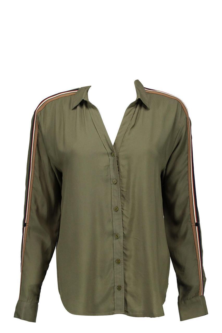 Женская рубашка с лампасами (хаки)