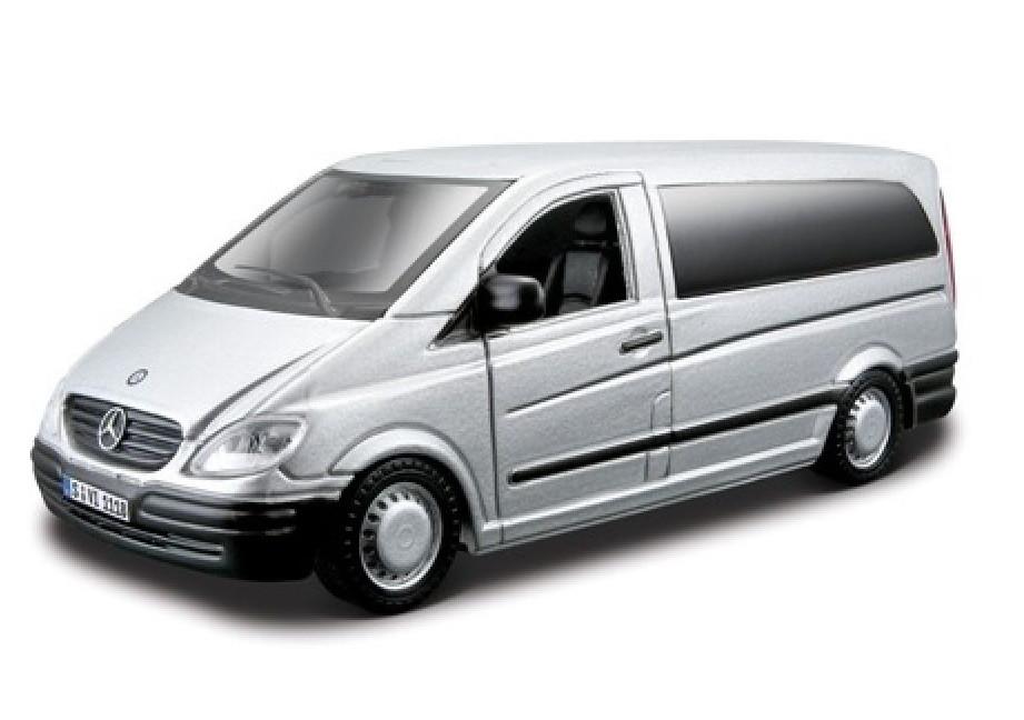 Автомодель MERCEDES BENZ VITO Bburago серебристый 1:32 (18-43028)