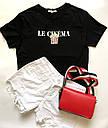 Футболка женская с бусинами Le cinema черная, фото 2