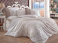 Двуспальное постельное белье Фланель 200х220 HOBBY FLANNEL Irene бежевий